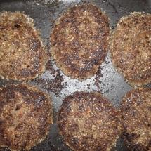 Baked rice meatballs