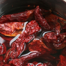Dry sweet red peppers