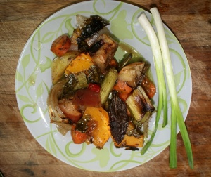 Quick browned vegetables