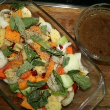 Vegetables and sauce