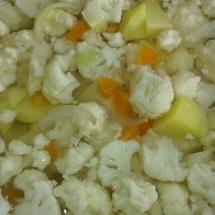 Onion, potatoes, cauliflower